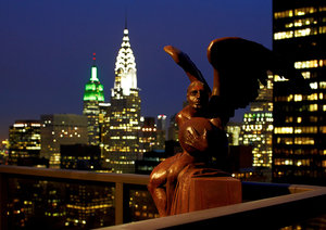 Panoramic, Empire State Building, Chrysler Building, Botero