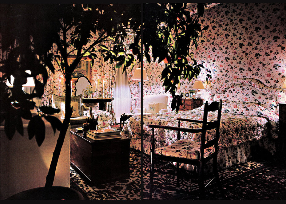 Architecturtal Digest, Yasmin Aga Khan, Bedroom
