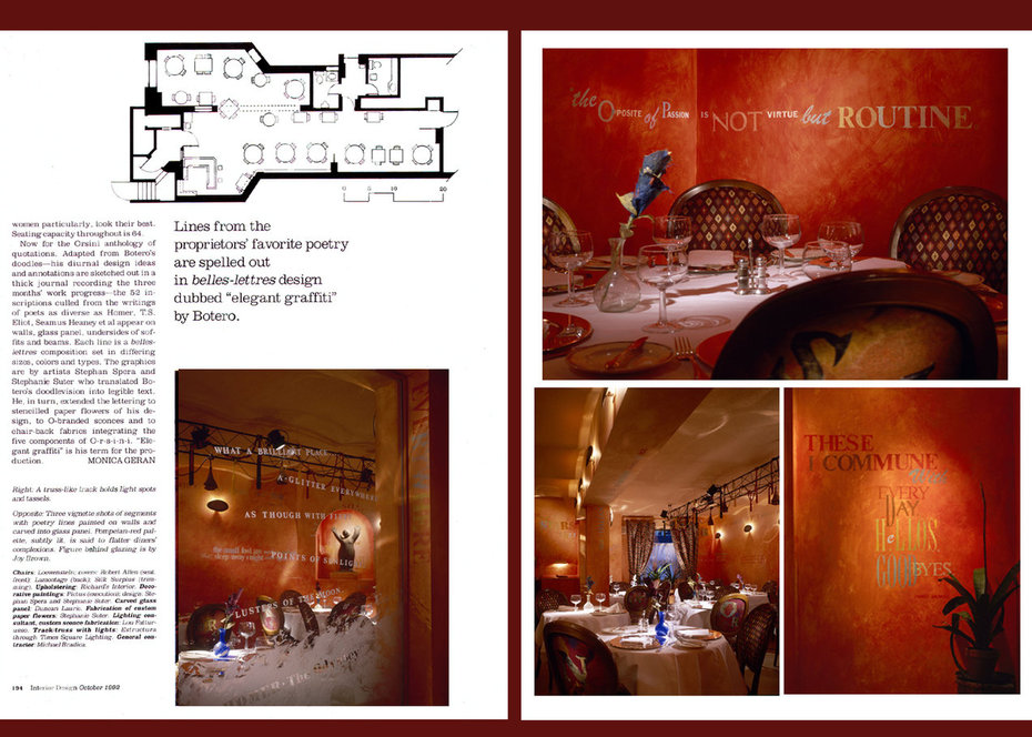 Interior Design, Orsini 2, Restaurant, commercial