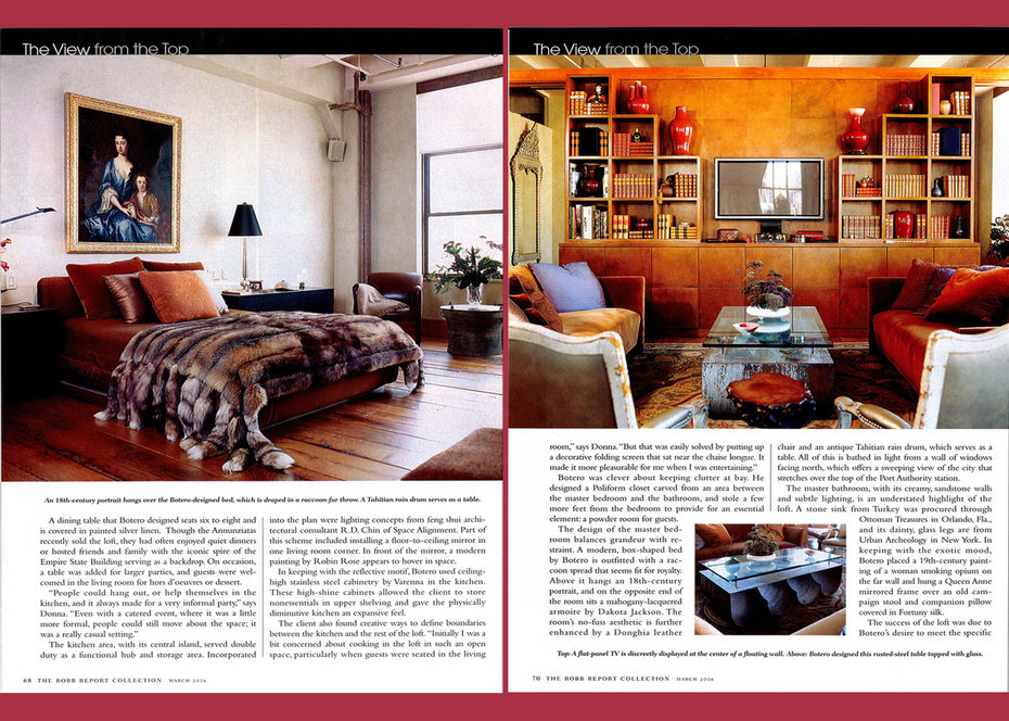 Robb Report,Loft, Bedroom, Library