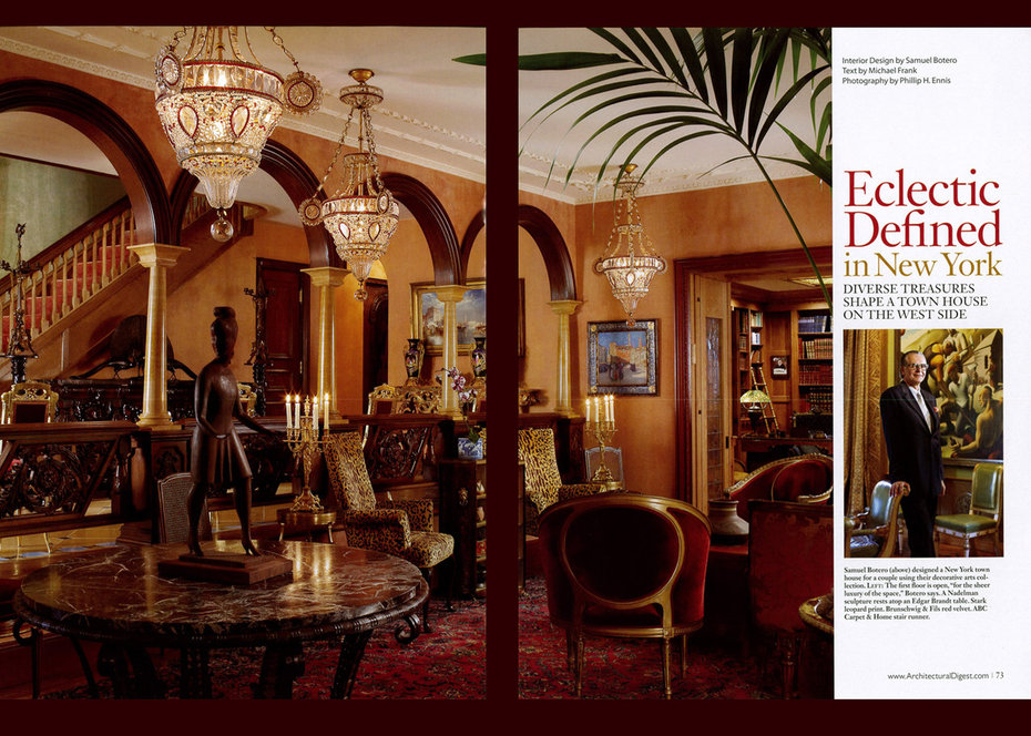 Architectural Digest, Townhouse, Living room