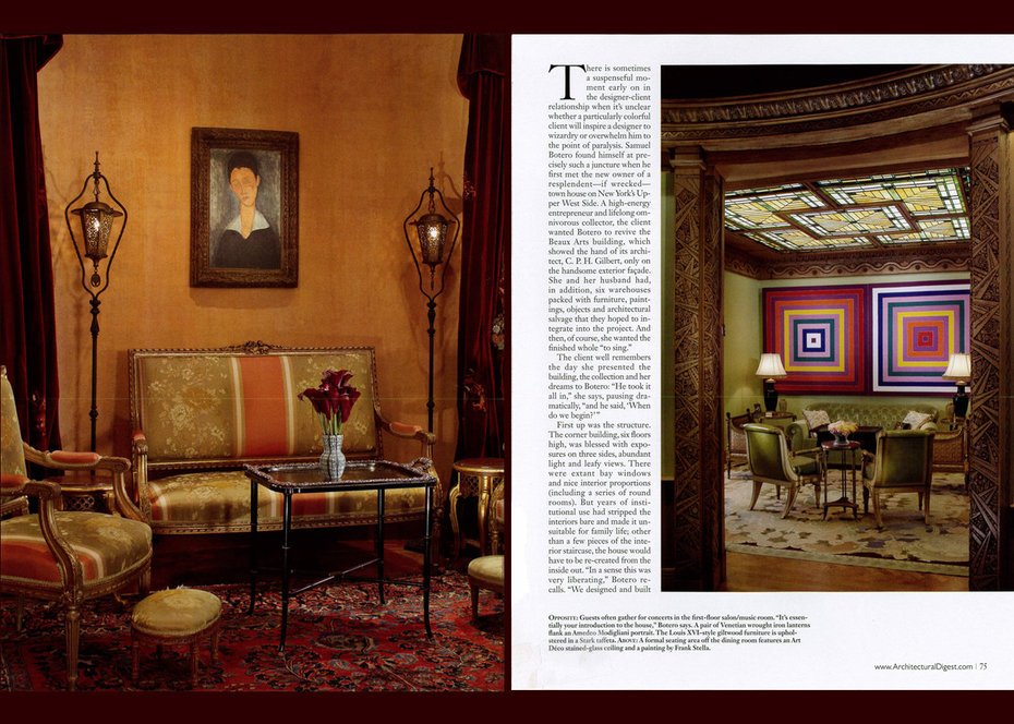 Architectural Digest, Townhouse, Detail, Living Room