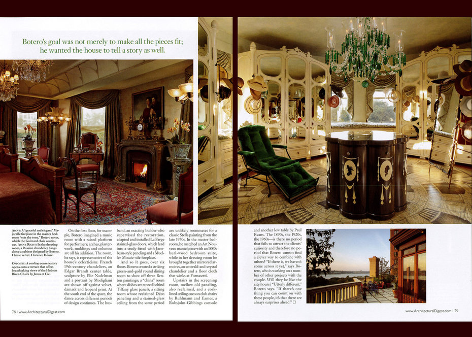 Architectural Digest, Townhouse, Bedroom, Dressing Room