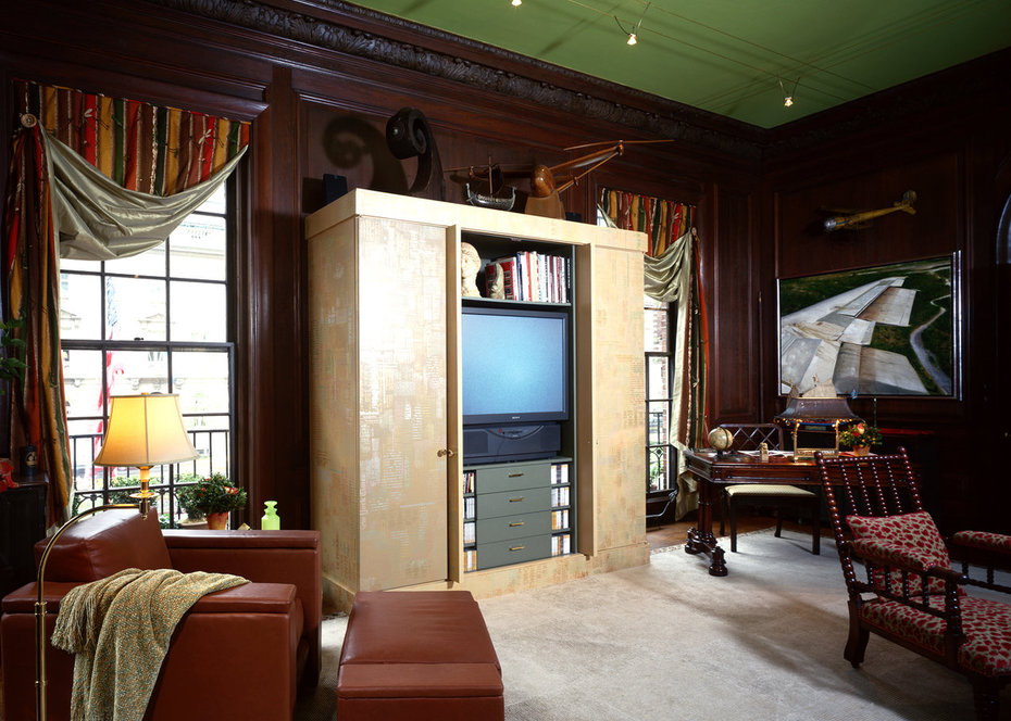 Kips Bay, Study, Media Room, Media Cabinet