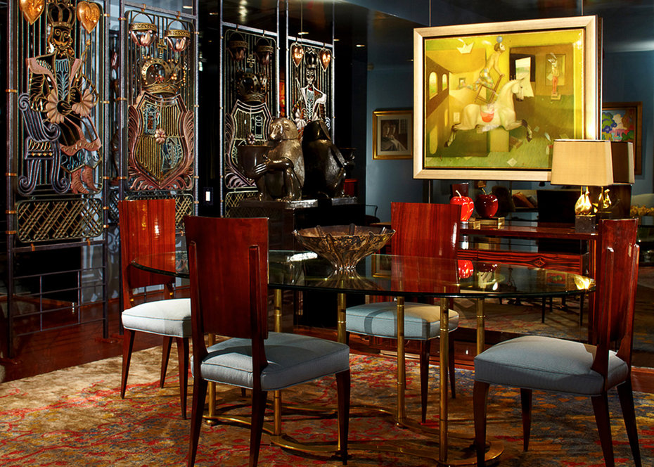 Dining Room, Hispanic Art, Botero, New York, Art Deco, King,Heart