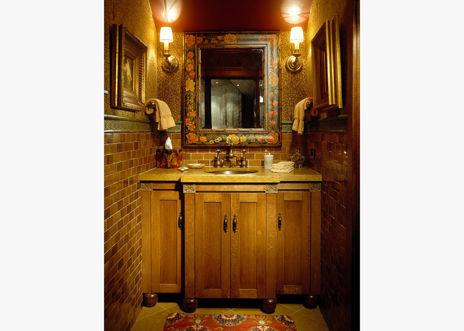 Powder Room, ROCKY MOUNTAIN, ARCHITECTURAL DIGEST