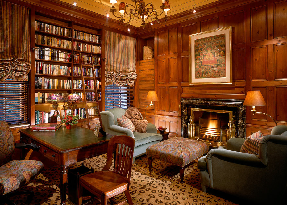 Study, Library, Architectural Digest